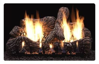 Picture of Empire Charred Oak Gas Fireplace Logs, Vent Free Slope Glaze Burner