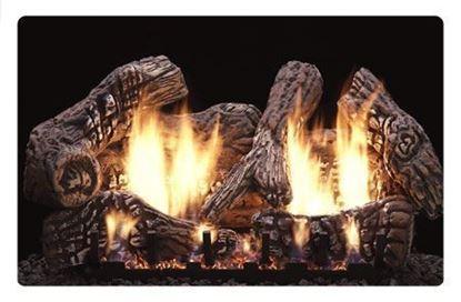 charred oak super log set