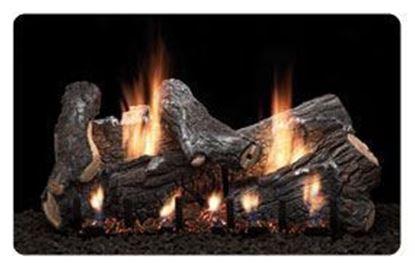 Picture of Empire Sassafras Gas Fireplace Logs, Vent Free Slope Glaze Burner