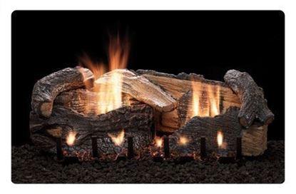 Picture of Empire Stacked Aged Oak Log Set, Vent Free Slope Glaze Burner