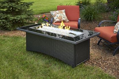 Montego linear fire pit table